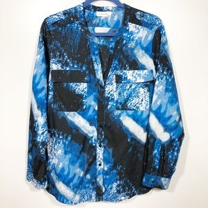 Calvin Klein Blouse - Blue/Black